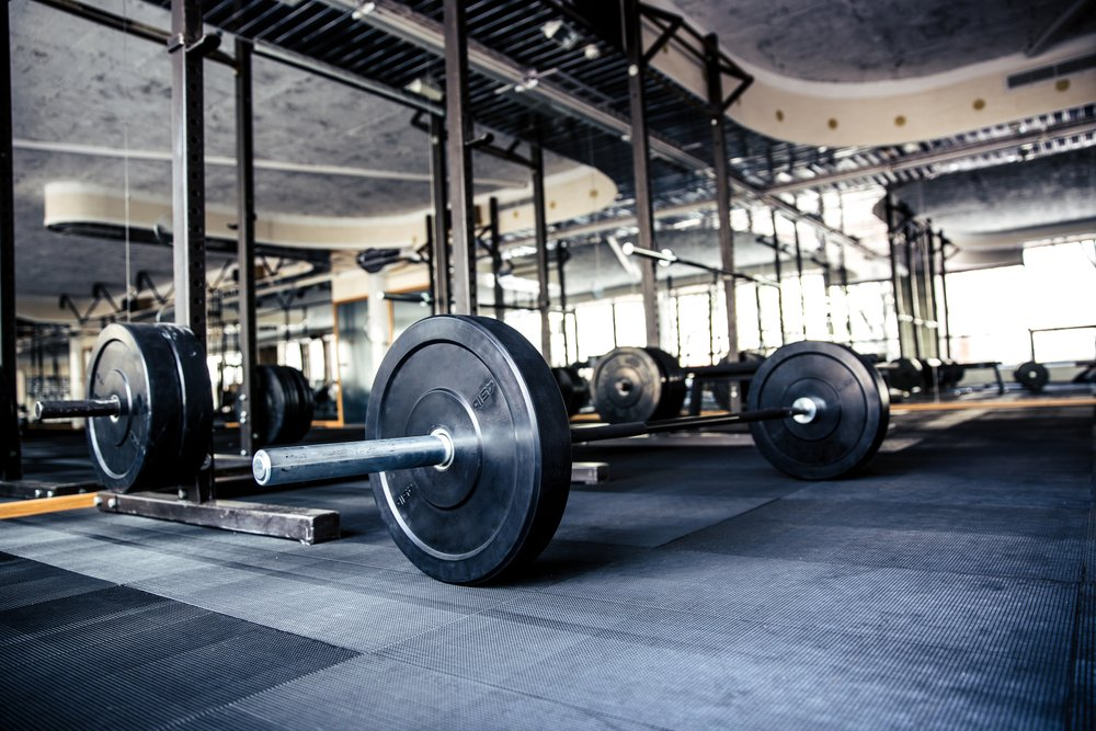 Weights on the Gym floor